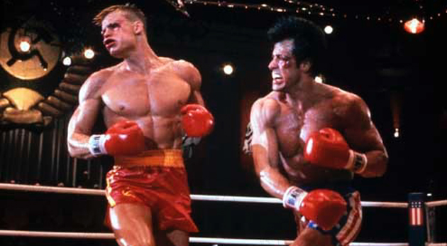 Rocky IV 1985 rŽal. : Sylvester Stallone Dolph Lundgren  Collection Christophel